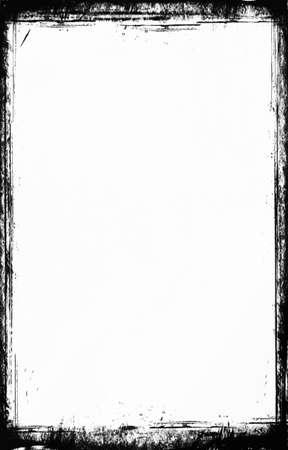 グランジ フレーム、黒と白 写真素材