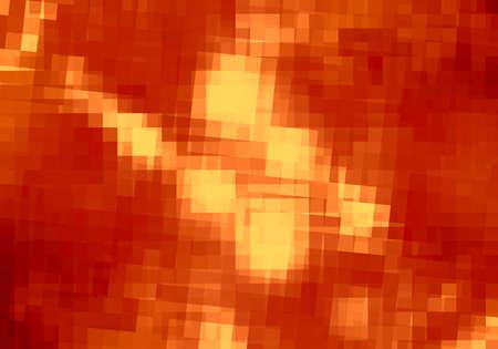 Abstract orange pixelated background Stock Photo