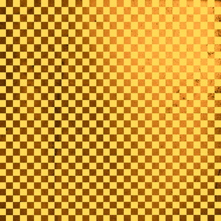 checker board: Illustration of gold grunge checker board, abstract background