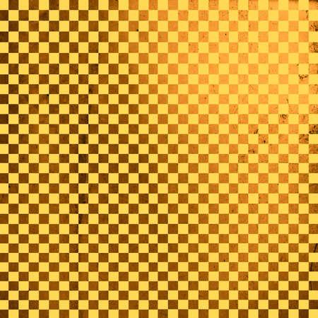 checker board: Ilustraci�n de tablero de ajedrez de oro el grunge, fondo abstracto