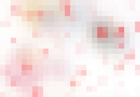 scavenge: Digital  pixel mosaic, bright, red, white, color abstract background