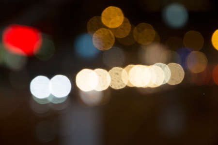 hidef: Defocused night traffic lights, blurred abstract background