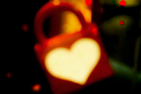 prisoner of love: Heart Padlock, valentines day holiday abstract background photo illustration.