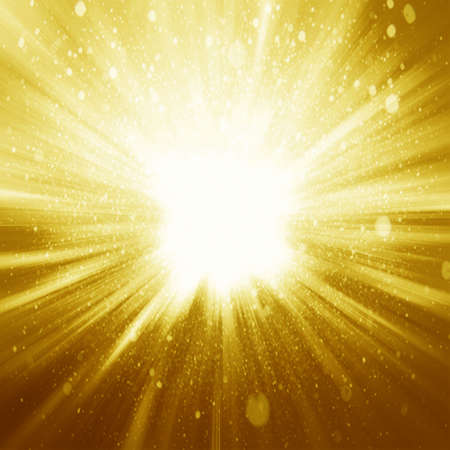 sparkle background: Golden sparkling background with intense glowing sparkles and glitter