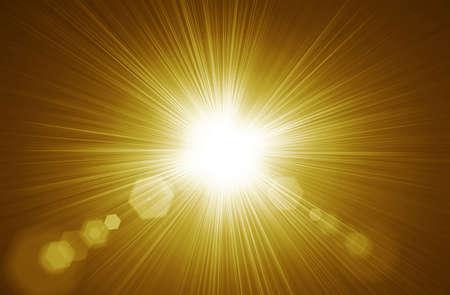 Centered yellow orange summer sun light burst. Gold  Radial nature abstract  backround