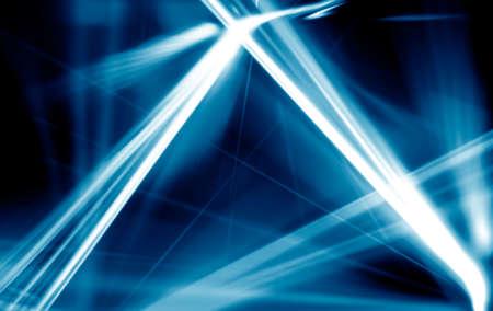 Abstract of digital bluel light laser line. blue background.