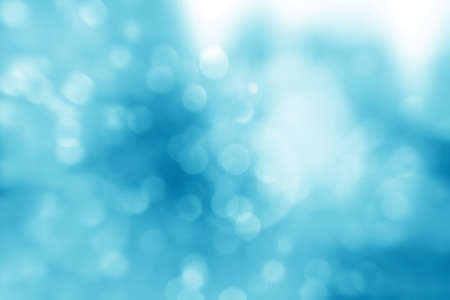 Blue christmas lights. Christmas soft Bokeh background