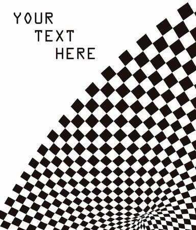 Checkered Background Design  Illustration