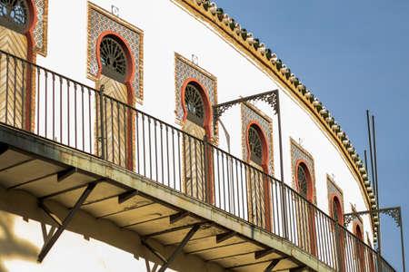 Balcony of the bullring of Almendralejo, southwest of Spain