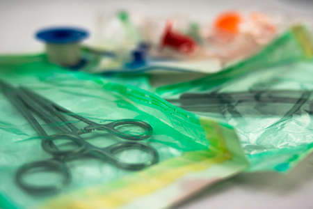 Medical material for surgical intervention packaging and sterile