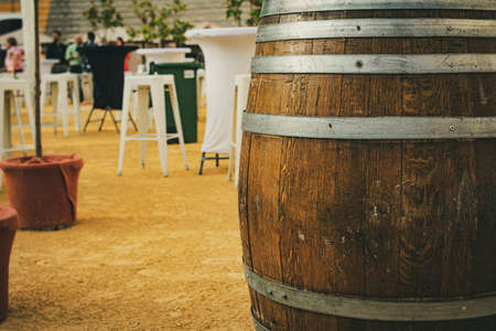 wine barrel at a wine and tourism festival