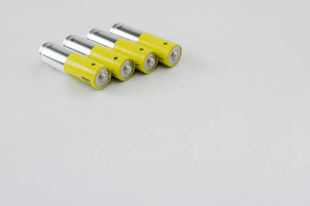 alkaline batteries for use in electronic devices without power cord Stok Fotoğraf