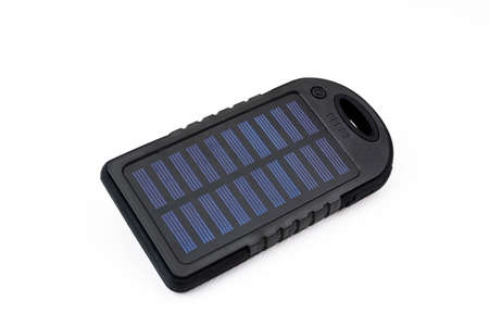 Portable and solar power battery charger for mobile phone or tablet 写真素材