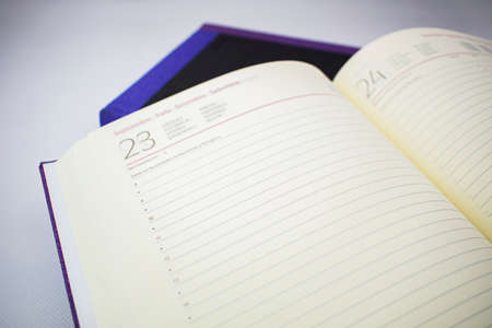 Open agenda to start recording important appointments for the business