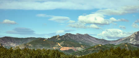 Mountains that constitute the Sierra de Guadalupe, in Extremadura, west of Spain.