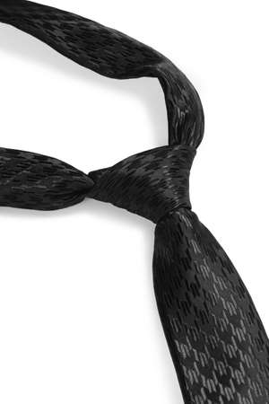 black tie: Classic black tie isolated on white background