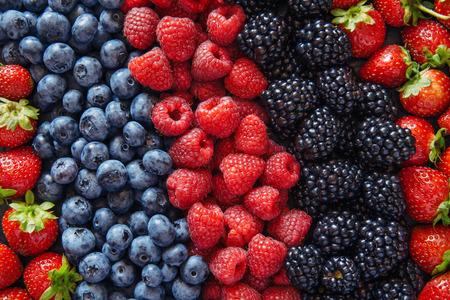 Gezonde gemengde bessen fruit