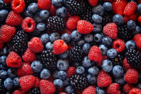 Healthy mixed berries fruit Stock Photo