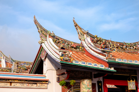 hoon: Malacca , Malaysia - March 23, 2016: Architecture of Cheng Hoon Teng chinese temple in Malacca, Malaysia