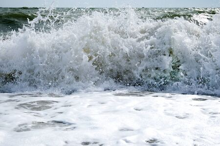 crashing: white crashing wave