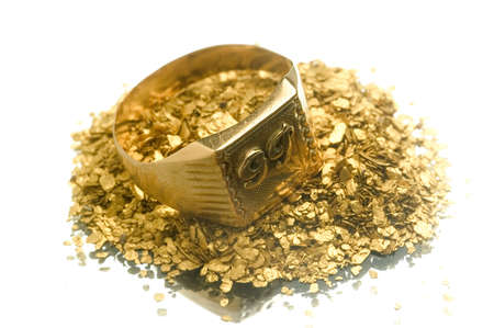 Gold jewels to illustrate the recovery of old jewels for the recycling of gold. Stock fotó - 9954949