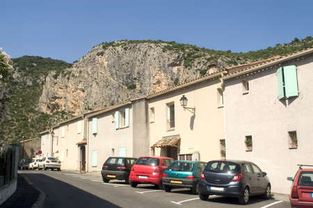 roussillon: Center town of Anduze Stock Photo