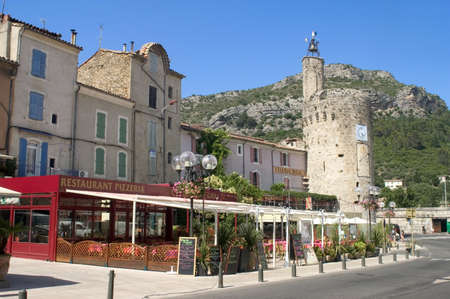Center town of Anduze Stock Photo - 11336142