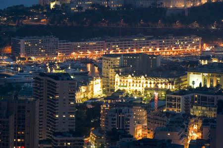 Landscape of Monaco of night
