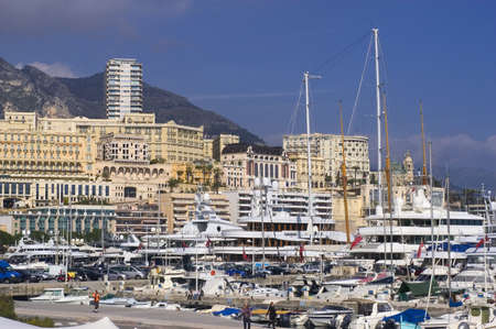 azur: Landscape of Monaco of night in the small hour Editorial