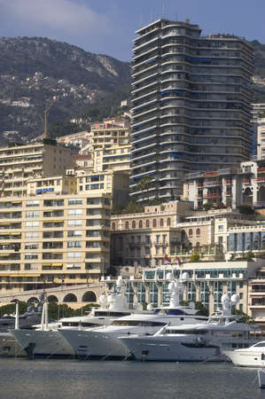 Landscape of Monaco of night in the small hour photo