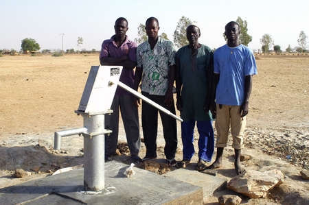 Water is not surfaces some in Africa, but with 40 meters under ground. Humanitarian associations finance and make install pumps in order to draw this water for the life of the village.