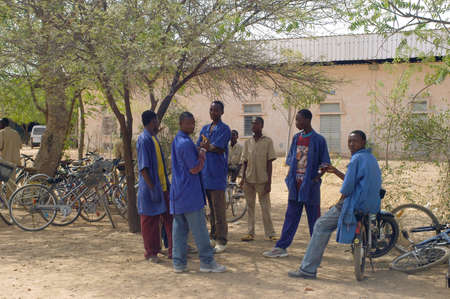 schoolboys in Burkina Faso of the college Saint-Philippe de Koupela Stock Photo - 11556368