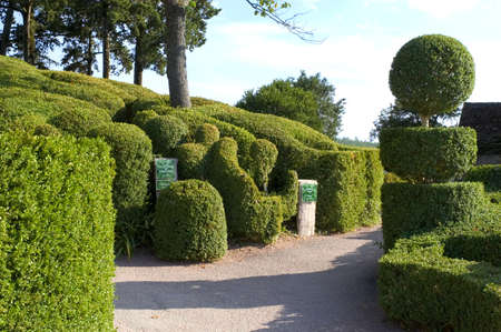 castle and gardens of Marqueyssac, the gardens have the characteristic to be suspended