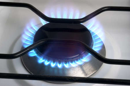 The gas butane or burning hot propane gas on a cooker Stock Photo - 16288221