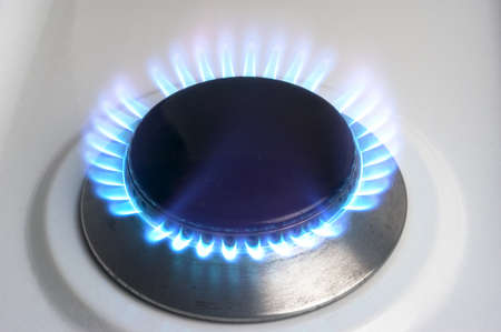 The gas butane or burning hot propane gas on a cooker Stock Photo - 16288182
