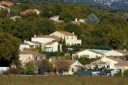 French new houses in the area of Languedoc-Roussillon and the department of Gard. photo