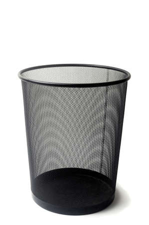 waste basket in studio on white zone to illustrate the clerical work Stock Photo - 16626998