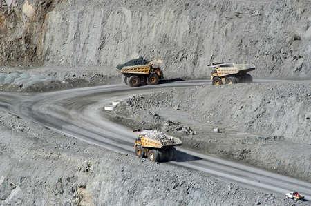 camion minero: Mina de oro de Kalgoorlie en Australia Occidental Foto de archivo