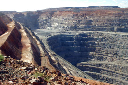open pit: Goldmine of Kalgoorlie in the western australia