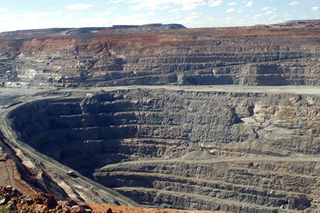 mining equipment: Goldmine of Kalgoorlie in the western australia