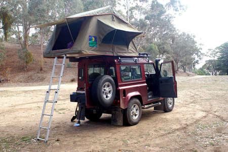 wilderness camping in Australia in Victoria in full forest  photo