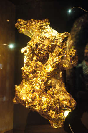 The museum of the gold of Ballarat in Australia in Victoria where all the history of the gold and marvellous gold nuggets of impressive size is. photo