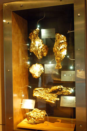 The museum of the gold of Ballarat in Australia in Victoria where all the history of the gold and marvellous gold nuggets of impressive size is. Stock Photo - 17522643