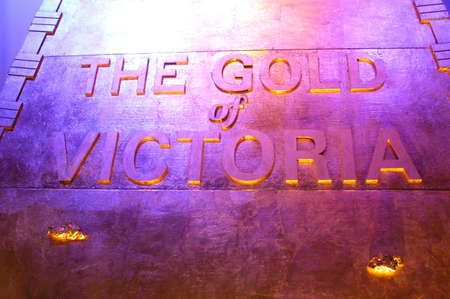 The museum of the gold of Ballarat in Australia in Victoria where all the history of the gold and marvellous gold nuggets of impressive size is. Stock Photo - 17522639