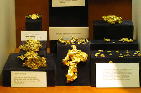 The museum of the gold of Ballarat in Australia in Victoria where all the history of the gold and marvellous gold nuggets of impressive size is. Stock Photo - 17522461