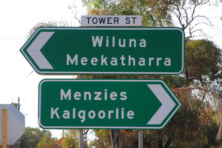 road signs with Leonora photo