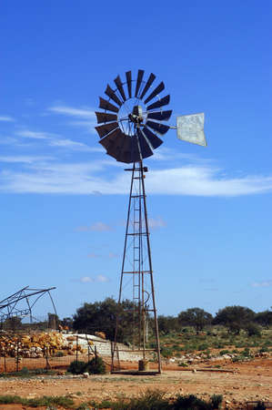 Wind mill in the Australian bush photo
