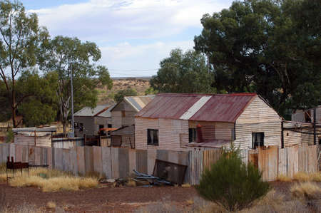 leonora: phantom city of Leonora in the Australia Western which was used to place the blue-collar worker of the goldmine, city now given up and preserved in the state as if the inhabitants had disappeared Stock Photo