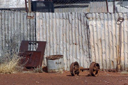 phantom city of Leonora in the Australia Western which was used to place the blue-collar worker of the goldmine, city now given up and preserved in the state as if the inhabitants had disappeared Stok Fotoğraf