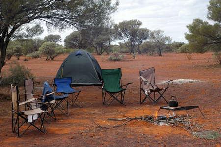wilderness camping in the Australian bush Stock Photo - 17535050